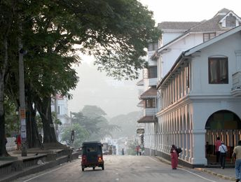 Clean and bright: A street in Kandy, Sri Lanka | B. Manojkumar