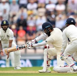 Moeen Ali bats in the fourth Test | AFP