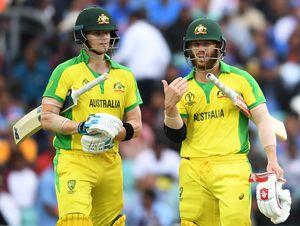 Steve Smith (L) and David Warner of Australia | AFP
