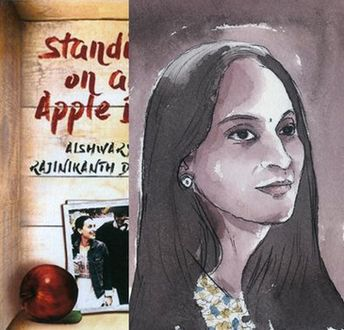Aishwaryaa on the apple box