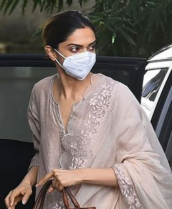 Deepika Padukone arrives to attend questioning by Narcotics Control Bureau (NCB) officials, in Mumbai | AFP