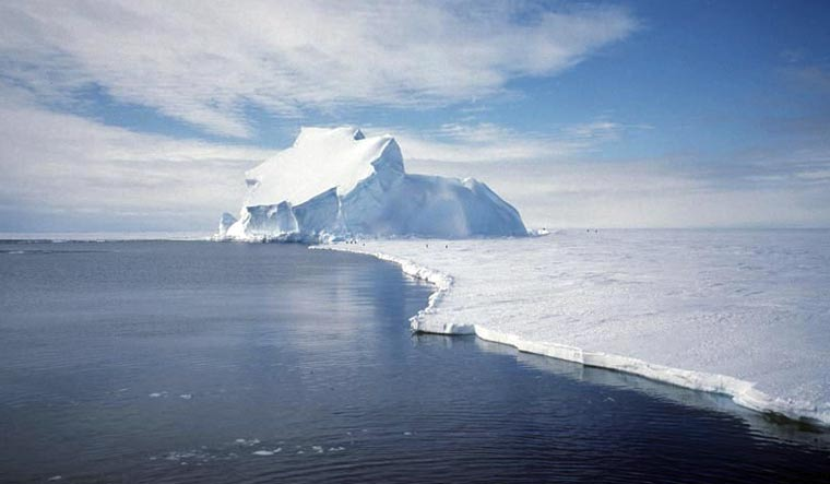 Third of Antarctic ice shelf area at collapse risk due to global warming: Study