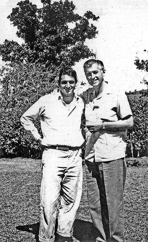 With Stewart Granger, in whose film Don acted as a stunt double.