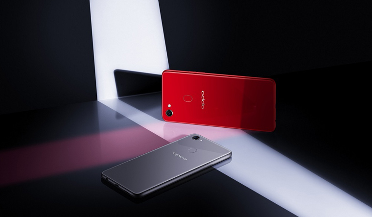 OPPO-F7-Red-and-Silver