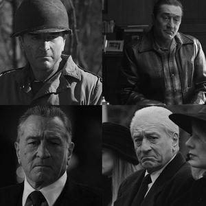 Stills showing De Niro's transformation