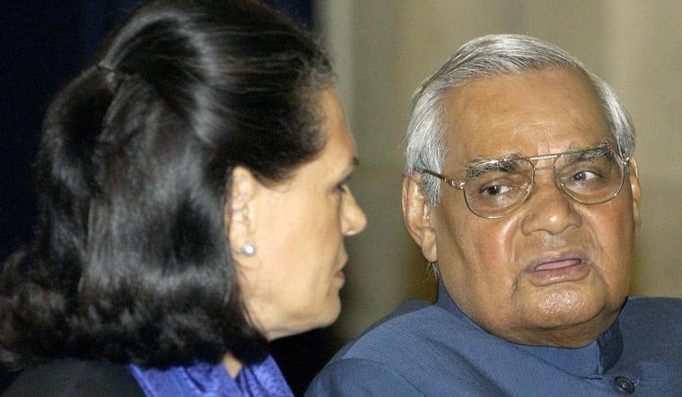 Vajpayee and Sonia
