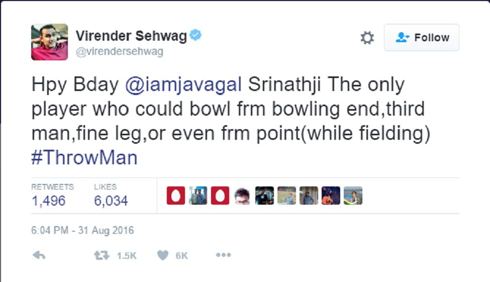 Why the hilarious Viru is a Twitter favourite