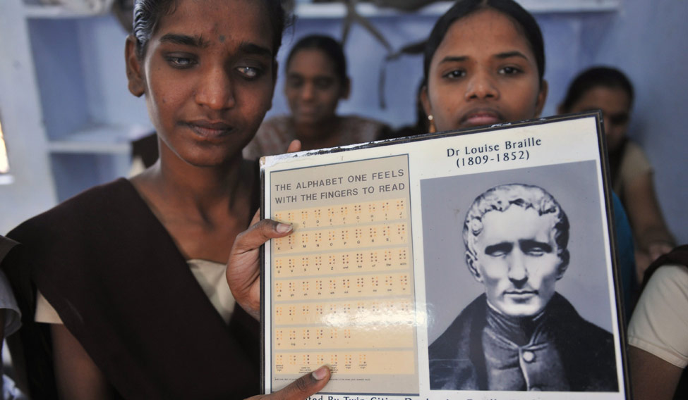 INDIA-EDUCATION-HEALTH-BRAILLE