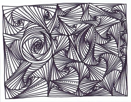 The therapeutic art of Zentangles